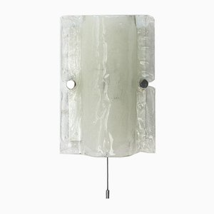 Ice Glass Wall Sconce, 1960s