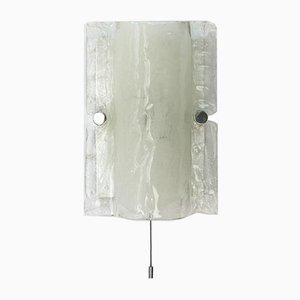 Wandleuchte aus Eisglas, 1960er