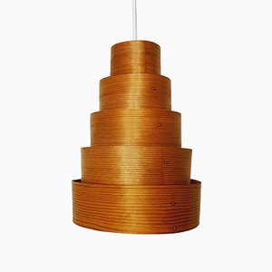 Lampada in legno di Hans-Agne Jakobsson per AB Markaryd, anni '60
