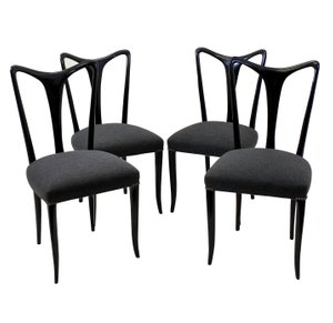 Mid-Century Dining Chairs by Guglielmo Ulrich, Set of 4