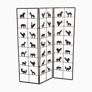 Animal Screen Room Divider from Atelier Marolles, 1950s