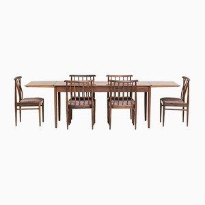 Dänischer Esszimmtertisch und Stühle aus Palisander, 1960er, 7er Set