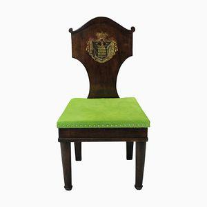 Chaises pour Entrée Antiques en Acajou, 1780s, Set de 2