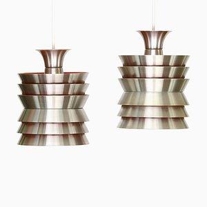 Lámparas colgantes de Carl Thore para Granhaga Metallindustri, años 60. Juego de 2