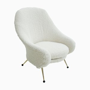 Mid-Century Italian White Martingala Armchair by Marco Zanuso for Arflex, 1954