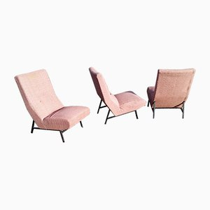 Lounge Chairs by Guy Besnard for Claude Delor, 1959, Set of 3