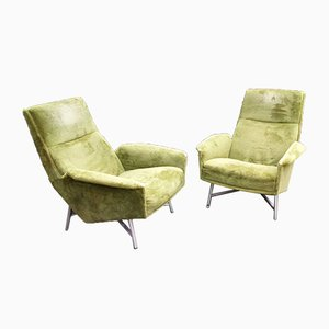 Vintage Lounge Chairs by Guy Besnard for Claude Delor, 1950s, Set of 2