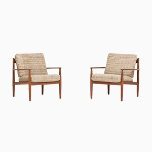 Easy Chairs by Grete Jalk for France & Son, 1962, Set of 2