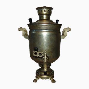 Vintage Brass Coal Samovar from Tula, 1960s