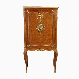 French Inlaid & Gilded Cabinet, 1960s
