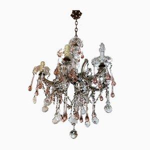 Antiker böhmischer Maria Teresa Kronleuchter aus Kristallglas