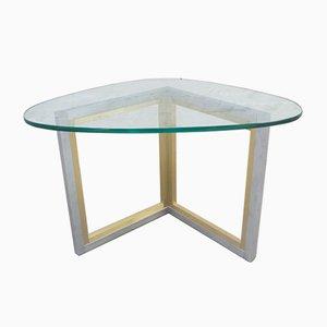 Table Basse en Acier et Laiton, 1970s