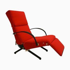 Chaise longue P40 Mid-Century in ottone di Osvaldo Borsani per Tecno, Italia