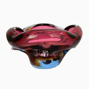 Glass Ashtray by J. Beranek for Skrdlovice Glassworks, 1960s