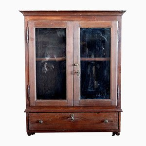 Early 20th Century Spruce Display Cabinet