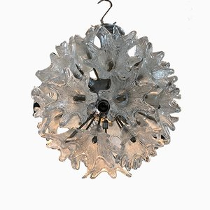 Kugelförmige Vintage Hängelampe aus Glas & Eisen