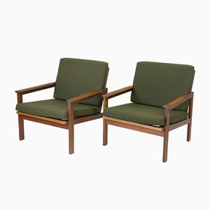 Teak Armchairs by Illum Wikkelsoe for Niels Eilersen, 1960s, Set of 2