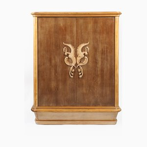 French Sycamore Cabinet, 1940s