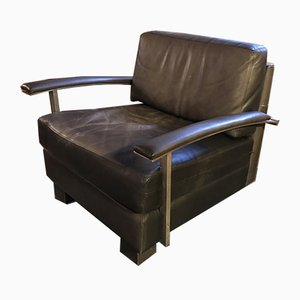 Washington Leather Lounge Chair by Jean Michel Wilmotte, 1990s