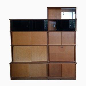 Oak Bookcase by Didier Rozaffy, 1950s
