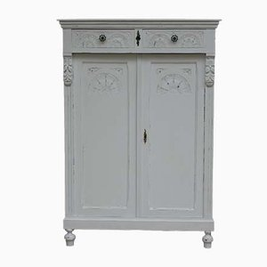 Vintage French White Cabinet