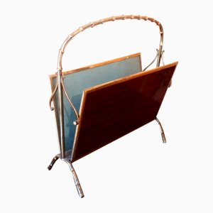 Vintage Magazine Rack from Maison Baguès
