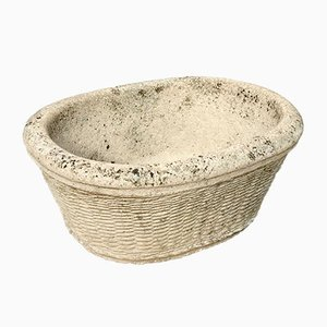 Stone Basket Planter from Archive Stone Ltd, 1980s