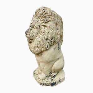 Stone Lion Garden Statue, 1980s