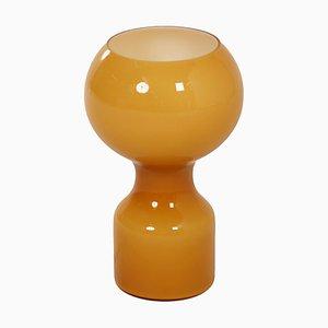 Ockerfarbene Tischlampe aus Glas von Jean-Paul Emonds-Alt für Philips, 1960er