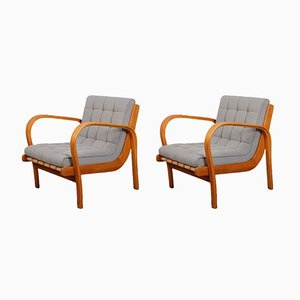 Vintage Armchairs by Kropacek & Kozelka, 1944, Set of 2