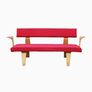 Rotes Sofa von Cor Alons & J.C. Jansen für C.de Boer Gouda, 1949