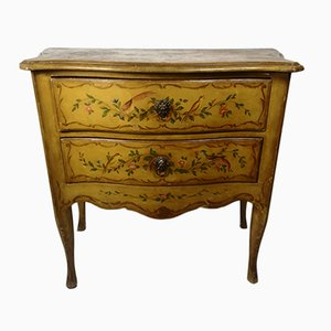Small Vintage Hand-Painted Commode