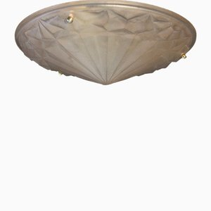 Art Deco French Ceiling or Wall Light by David Gueron for Degue, 1930s