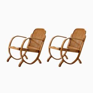 Vintage Armlehnstühle aus Caviuna von Móveis Gerdau, 2er Set