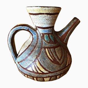 Französischer Accolay Keramikkrug, 1960er
