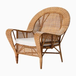 Canton Rattan Lounge Chair by Kay Fisker, 1950s
