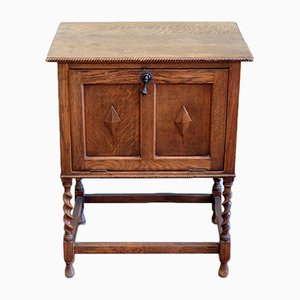 Antique Scottish Oak Bedside or Bar Cabinet