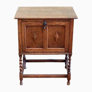 Antique Scottish Oak Bedside or Bar Cabinet