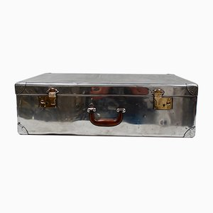 Polished Aluminium Suitcase by Heston Aircraft Co of London, 1945