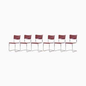 Chaises Cantilever de Mauser Werke Waldeck, 1950s, Set de 6
