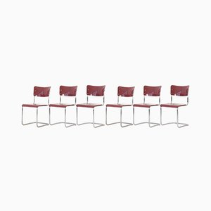 Freischwinger Stühle von Mauser Werke Waldeck, 1950er, 6er Set