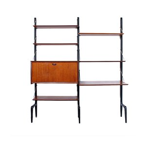 Teak Modular Shelving Unit by Louis van Teeffelen for WéBé, 1950s