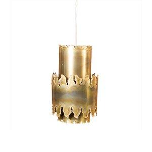 Lámpara colgante de latón de Svend Aage Holm Sørensen para Holm Sørensen & Co, años 50