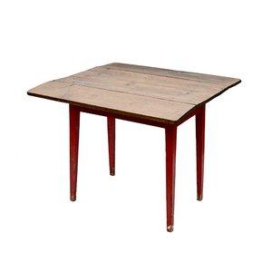 Mesa de cocina abatible sueca antigua de pino