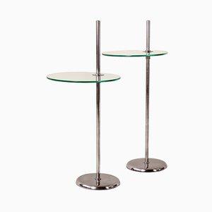 German Adjustable Side Tables, 1930s, Set of 2