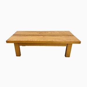 Mesa de centro de madera maciza de Maison Regain, años 70