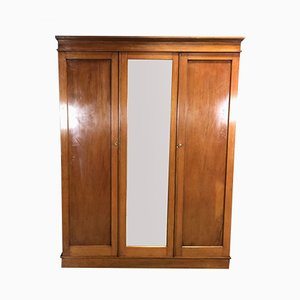 Vintage English Mahogany and Fir Wardrobe