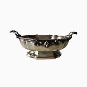 Silberne italienische Art Deco Vase von Arno Fassi, 1930er