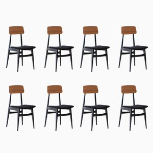 Italian Dining Chairs, 1950s, Set of 8