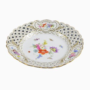 Antique Hand-Painted Plate from Meissen